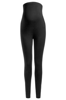Black Over The Bump Leggings (Maternity)