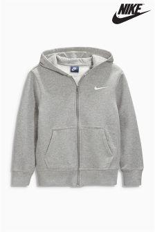 Nike Brushed Fleece Zip Through Hoody
