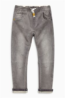 Grey Stretch Digger Pull-On Jeans (3mths-6yrs)