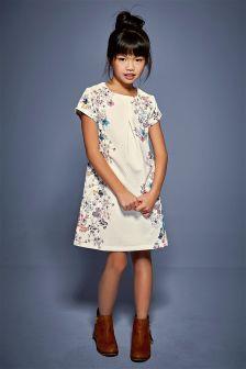 Ecru Printed Ponte Dress (3-16yrs)