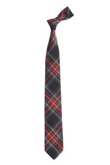 Red Cotton Check Tie