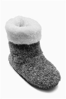 Grey Slipper Boots (Older Boys)