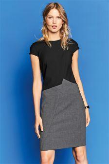 Black/Grey Colourblock Dress