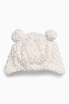 Ecru Fluffy Hat (0mths-2yrs)