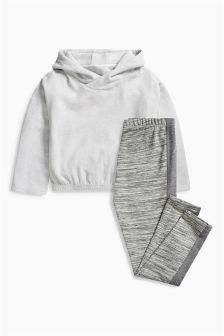 Grey Hoody And Leggings Lounge Set (3-16yrs)