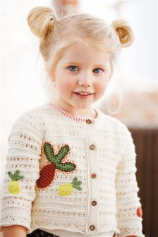 Cream Pineapple Crochet Knit Cardigan (3mths-6yrs)