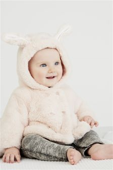Blush Faux Fur Jacket (0mths-2yrs)