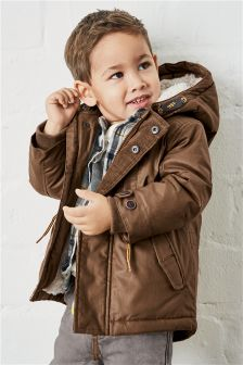 Tan Waxy Parka (3mths-6yrs)