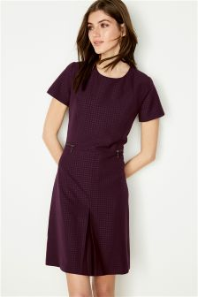 Embossed Workwear Dress