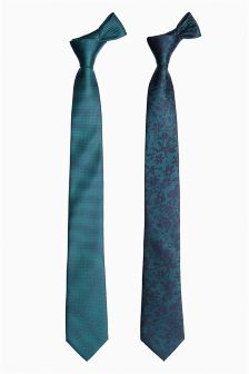 Patterned Ties Two Pack