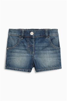 Dark Denim Basic Shorts (3mths-6yrs)
