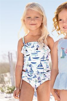 Blue All Over Print Boat Tankini (3mths-6yrs)