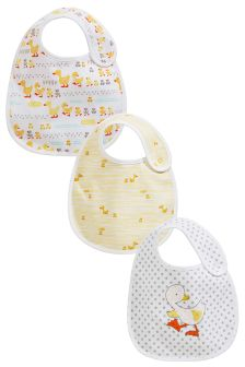 Yellow Duck Regular Bibs Three Pack