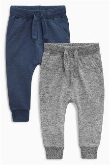 Navy/Grey Skinny Joggers Two Pack (3mths-6yrs)