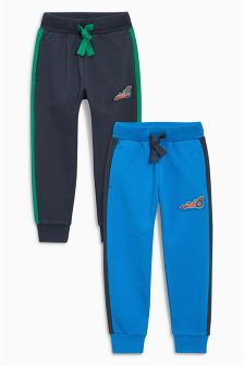 Cobalt/Navy Car Joggers Two Pack (3mths-6yrs)