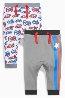 Multi Racing Joggers Two Pack (0mths-2yrs)