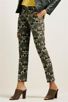 Multi Jacquard Slim Trousers