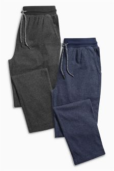 Navy/Grey Jersey Long Bottoms Two Pack