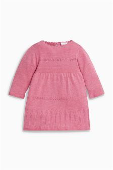 Raspberry Knitted Dress (0mths-2yrs)