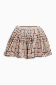 Pink/Grey Check Skirt (3mths-6yrs)