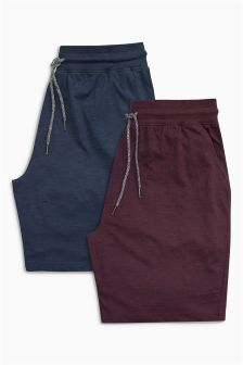 Navy/Red Jersey Shorts Two Pack