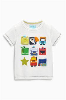 White 9 Character T-Shirt (3mths-6yrs)