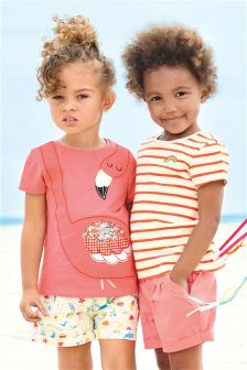 Pink Flamingo T-Shirts Two Pack (3mths-6yrs)