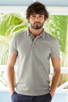 Grey Textured Polo