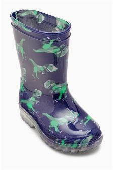 Blue Dino Wellies (Younger Boys)