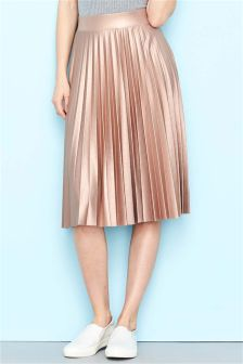 Rose Gold Pleated Skirt