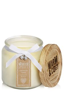 Winter Spruce Fragranced Round Candle Jar