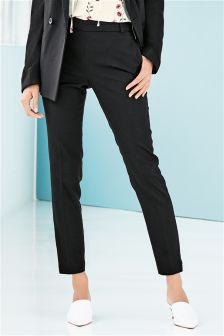 Black Tailored Skinny Trousers