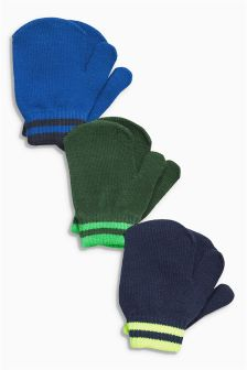 Blue/Green Mitts Three Pack (Younger Boys)