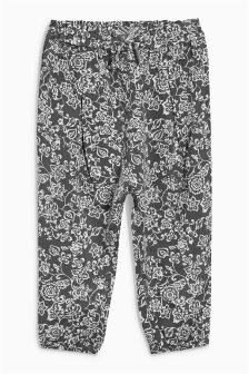 Charcoal Printed Trousers (3mths-6yrs)