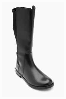 Black Tall Riding Boots (Older Girls)