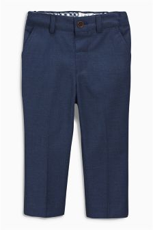 Navy Smart Tailored Trousers (3mths-6yrs)