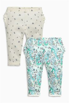 Ecru Leggings Two Pack (0mths-2yrs)