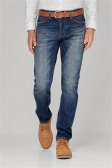 Vintage Blue Belted Jeans