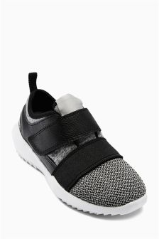 Grey Easy Touch Strap Trainers (Older Boys)