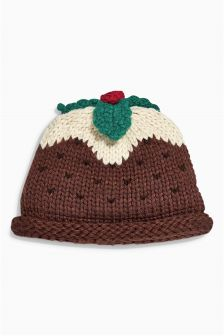 Brown Pudding Knit Hat (0mths-2yrs)