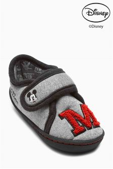 Grey Grey Mickey Mouse™ Slippers (Younger Boys)