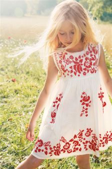 White Embroidered Tunic (3-16yrs)