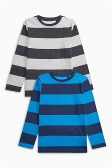 Blue Stripe T-Shirt Two Pack (3-16yrs)