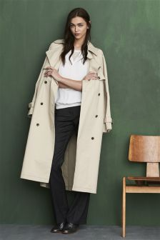 Neutral Oversized Trench Coat