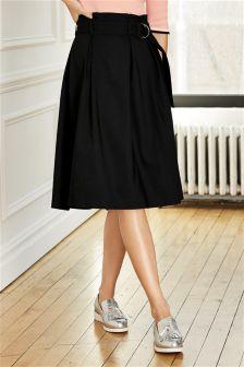 Black Paper Bag Skirt