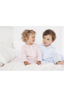 Blue Gingham Traditional Pyjamas (12mths-8yrs)