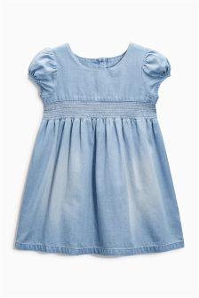 Denim Shirred Dress (3mths-6yrs)