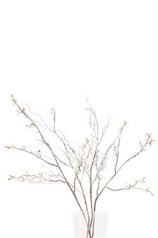 Set Of 4 Frosty Blossom Twig Mix