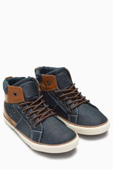 Textile Mix Chukka Boots (Younger Boys)
