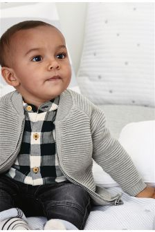 Grey Zip Cardigan (0mths-2yrs)